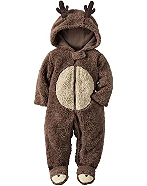 Carters Unisex Baby Clothing Outfit Sherpa Reindeer Jumpsuit Brown