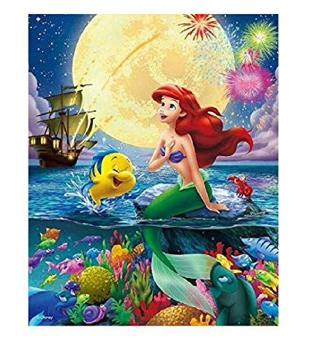 Little Mermaid Paint by Numbers Kits 16x20 Inch DIY Oil Painting by Numbers DIY Canvas Painting by Numbers Acrylic Painting Kits for Adults Arts Craft for Home Wall Decor Mermaid ()