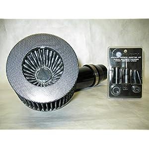 "Universal 3"" Diameter Carbon Fiber Short Ram Air Intake with Sensor Adapter Kit"