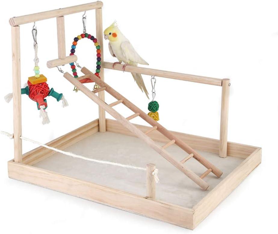 PETAMANIM Madera escaleras Juguete para pájaros Loro Jaula Perca Periquito Periquito cacatúas Conure Amor pájaros servilletas de África Gris Guacamayo