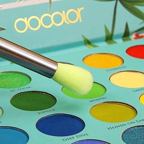Docolor Eye Makeup Brushes Set 15 Piece Neon Green Eyeshadow Brushes Set Professional Makeup Brushes Eye Shadow Concealer Eyebrow Eyelash Eye Liners Blending Make Up Brushes with Wooden Handles