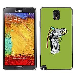 Ihec Tech Verde Grim Reaper Scythe Cráneo divertido / Funda Case back Cover guard / for Samsung Note 3 N9000