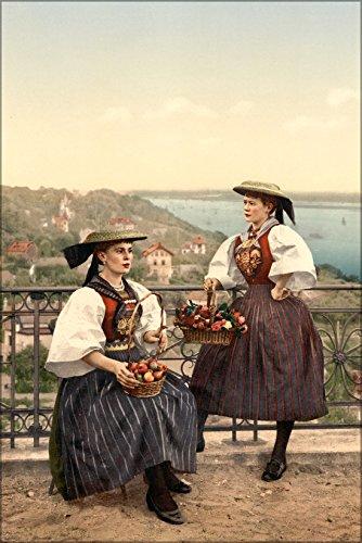 (24x36 Poster . National Vierlander Costume, Hamburg, Germany)