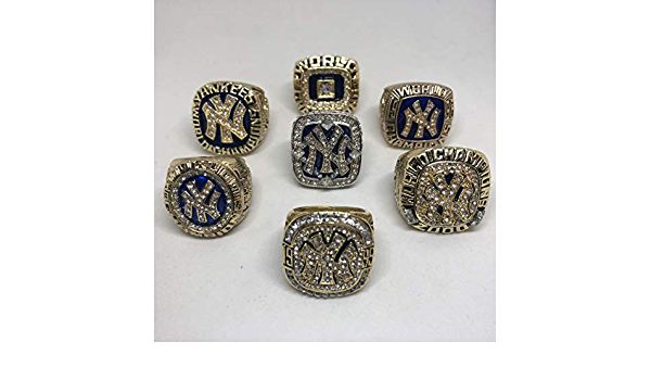 1927 World Series Champions Rare Collectible High-Quality Replica Silver Baseball Championship Ring with Cherrywood Display Box Vintage New York Yankees