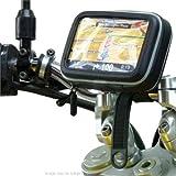 IPX4 Waterproof Motorcycle / Bike Locking Strap Handlebar Mount for 3″ and 4.3″ Screen SatNav / GPS Devices, Best Gadgets