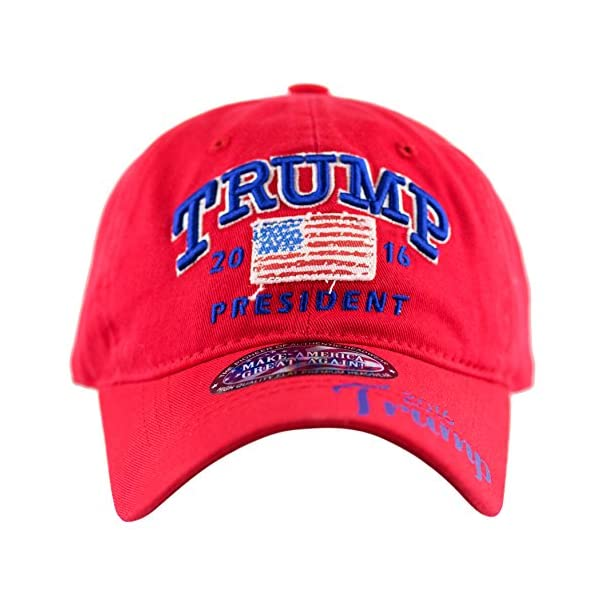 aa3a320fa66 The Hat Depot Trump 2016 President Campaign Flag Washed Cotton ...