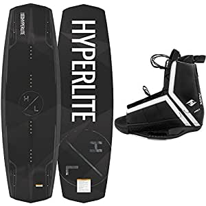 Hyperlite New 2019 Wakeboard Destroyer with Agent Wakeboard Bindings Fits Shoe Sizes 7-14! (135 cm)