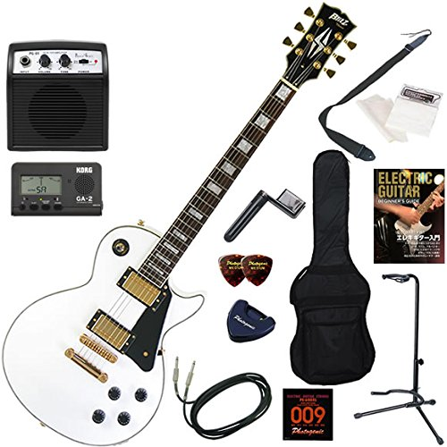 Blitz エレキギター 初心者 入門 セットネック仕様の本格的レスポールカスタム ミニアンプが入ったお手軽13点セット BLP-CST/WH(ホワイト)  WH(ホワイト) B01EMIJZD8