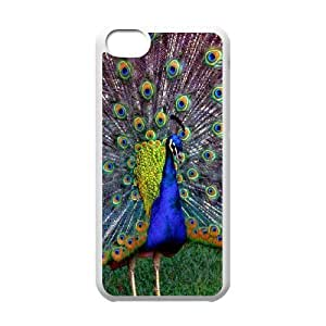 Personalized DIY Peacock Custom Cover Case For iPhone 5C B4S893275