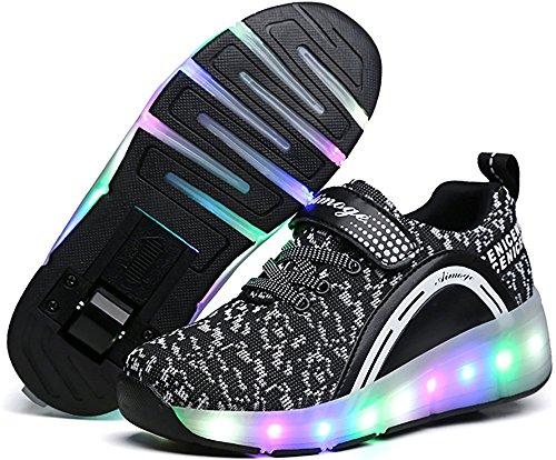 YSNJL Boys Girls Light up Roller Shoes with Wheels Skate Sne