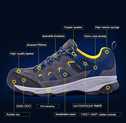 The First Outdoor Men's Breathable Hiking Shoe Trail Sneaker Climbing Mountain Outdoor Sports Shoes Grey sale shop vHzt149