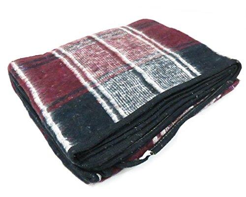 Mexican-Principe-Blanket-BurgundyNavy-Plaid
