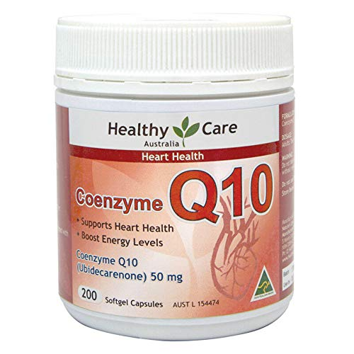 Healthy Care CoEnzyme Q10 50mg 200 Capsules (Best Q10 Supplement Australia)
