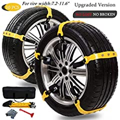 Feature:  1.Product name:Tire chains/antiskid chains/snow chains.  2.Main Material: High-tech Mixed Material (TPU).  3.Universal model, it can be applied to all the models of the tire width Universal Models: Universal, it can be applied to al...
