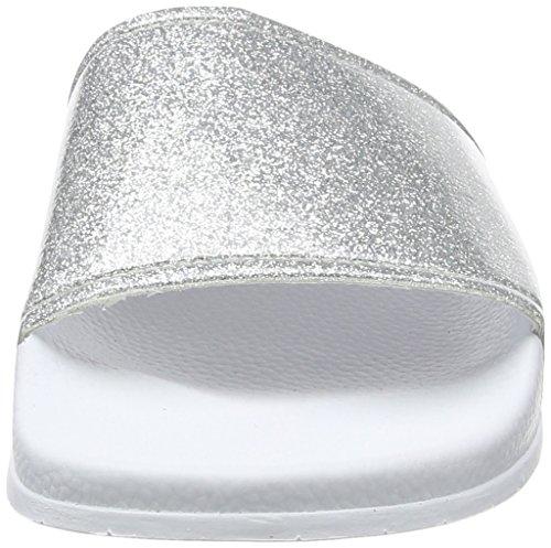 Slydes Champagne F - Sandalias Mujer White (Silver)