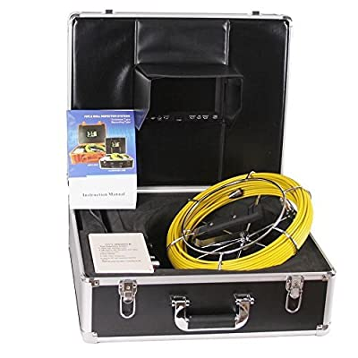 Pipe Inspection Camera, Video Snake Pipe and Wall Inspection Camera Anysun Waterproof IP68 30 Meter Drain Industrial Endoscope Video System 7 Inch LCD Monitor 1000TVL Sony CCD DVR Recorder