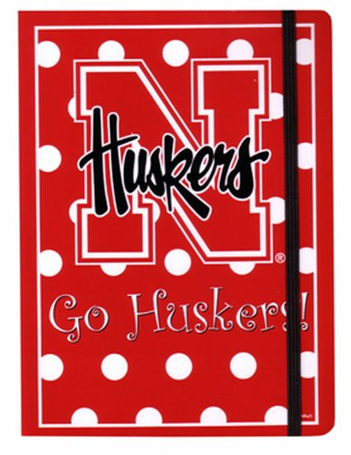 NCAA Nebraska Cornhuskers Polka Dot Design Stationary Journal