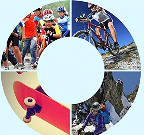 Knee Pads Set of 7pcs Elbow Wrist Knee Pads and Helmet Sport Safety Protective Gear Guard for Children Skateboard Skating Cycling Riding Blading