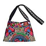 JOE COOL Shoulder Bag Rich Embroidered Made with Cotton by