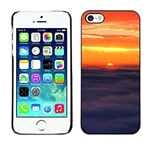 """For Apple iPhone 5 / 5S , S-type Sunset Beautiful Nature 91"""" - Arte & diseño plástico duro Fundas Cover Cubre Hard Case Cover"""