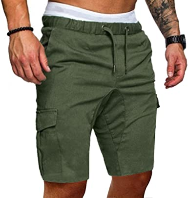 ZEFOTIM Casual Shorts for Mens New Summer Outdoors Casual Loose Printing Cotton Overalls Shorts Pants
