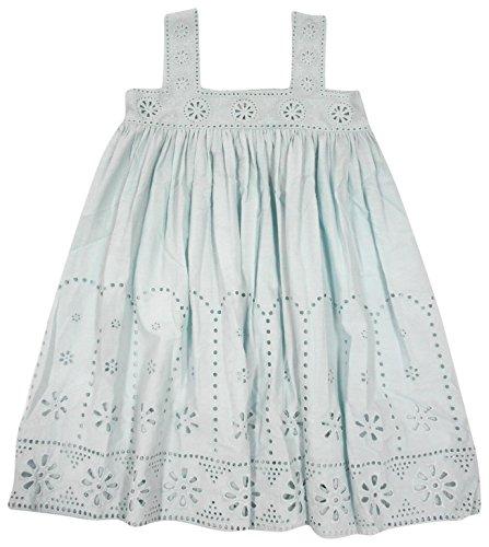 Stella McCartney Kids Girls' Anemone Eyelet Dress, Mint Blue, 6 by Stella McCartney Kids