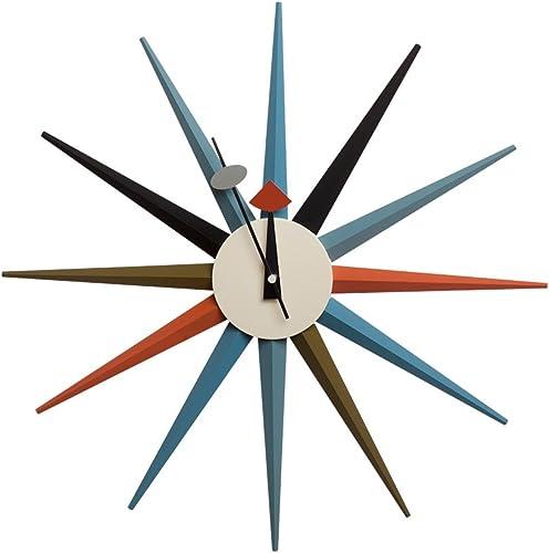 Telechron Classic Wooden Sunburst Clock
