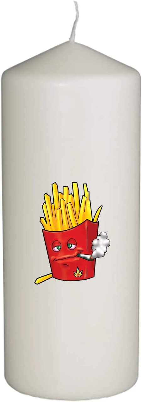 Pot Smoking Pals Fast Food Golden Crispy Deep Fried Crunchy French Fry Meal Order in Full Color Unity Candle Wedding, Special Event Decoration (6 inches Tall)