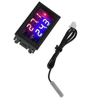 Termostato Electrónico Ajustable con Sensor de NTC Controlador de Temperatura con Pantalla Digital (24V)
