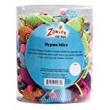 Zanies 2-Inch Hypno Mice Cat Toy Canister, 104-Pack, My Pet Supplies