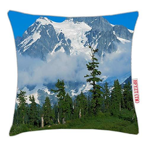 NBTJZT USA, Washington, North Cascades National Park Pillow Cover Standard Throw Pillowcase 18X18 Inch