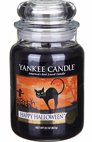 Yankee Candle Large Jar Happy Halloween Licorice Scent Candle 22 0z. for $<!--$48.99-->