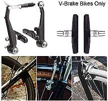 1 Pair MTB Bike Brake Pads V-Brake Holder Shoes Rubber Blocks Cycling Accessory