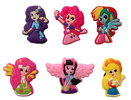 [Little Pony Fridge Magnets 6 Pcs Set #2] (Disney Tinker Bell Kids Sparkle Shoes)