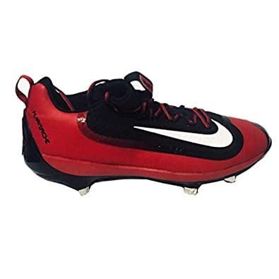 28d99867500 Nike Mens Air Huarache 2KFILTH Elite Low Metal Cleats Black White-Varsity  Red (