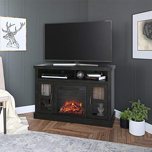 corner unit fireplace tv stand - 5