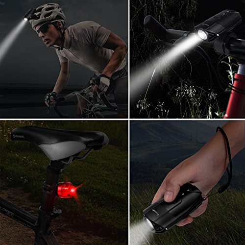 FYLINA Bike Light Kit Front and Back, Bicycle Headlight Rechargeable with Two Tail Light Powerful Lumens Bicycle Led Light Set Waterproof Fits with Mountain Bike, Road Bike for Safety by FYLINA (Image #6)