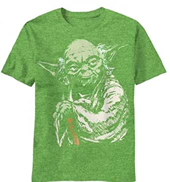Star Wars Yoda Green Heathered Men's T-shirt