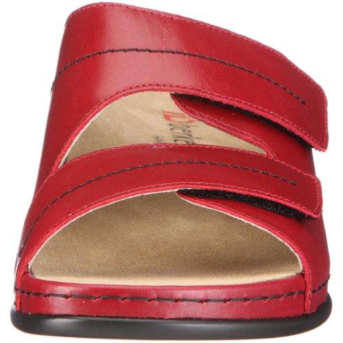 Berkemann Melbourne Daria 1002 - Zuecos de cuero para mujer, color rojo, talla 41.5