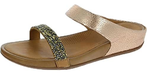 a6b331137c1fff FitFlop Banda Roxy Slide Sandals Bronze UK7 Bronze  Amazon.co.uk ...