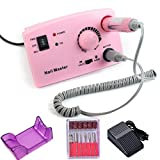 REBUNE 30K RPM 20W New handle Nail Drill Machine Pro Electric Nail Polisher Nail Art File Bits Manicure Kit Color Pink