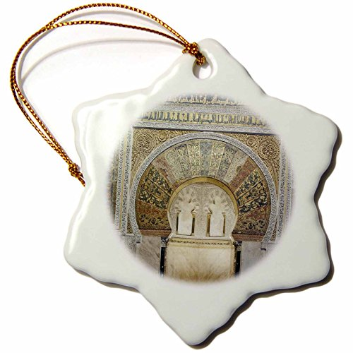 3dRose orn_139120_1 Catedral Mosque of Cordoba, Andalucia, Spain Eu27 Rti0007 Rob Tilley Snowflake Ornament, Porcelain, 3-Inch by 3dRose