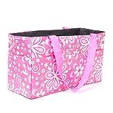 Elisona® Floral Pattern Outdoor Travel Portable Mummy Mother Baby Diaper Nappy Storage Organizer Tote Bag Handbag Cosmetic Bag Pink