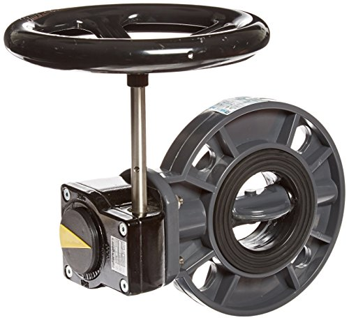 Hayward BYC1025E1GGB PVC Gear Operated BYC Series Butterfly Valves, 2-1/2-Inch, Gray