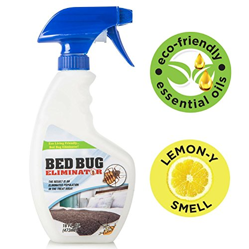 Eco-Friendly Bed Bug Spray - Non-Toxic Bed Bug Killer & Barrier - Essential Oil Formula Great...