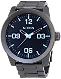 Nixon The Corporal SS Gunmetal Grey Blue Tinted Dial Mens Watch A346-1427