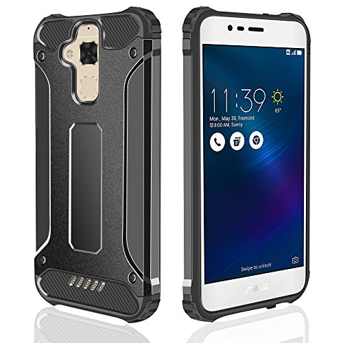 Shockproof Armor TPU/PC Case for Asus Zenfone Max (Black) - 7
