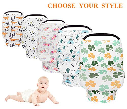 Nursing Cover for Breastfeeding,Carseat Canopy,High Chair, Shopping Cart & Stroller Cover,Bonus Infant Baby Beanie(Cactus) by Yaniss (Image #5)