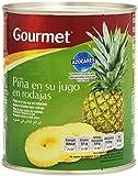Gourmet - Piña en su jugo en rodajas - Sin azúcares añadidos - 820 g