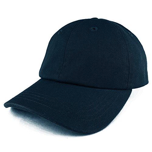 - Trendy Apparel Shop Baby Infant Plain Unstructured Adjustable Baseball Cap - Navy